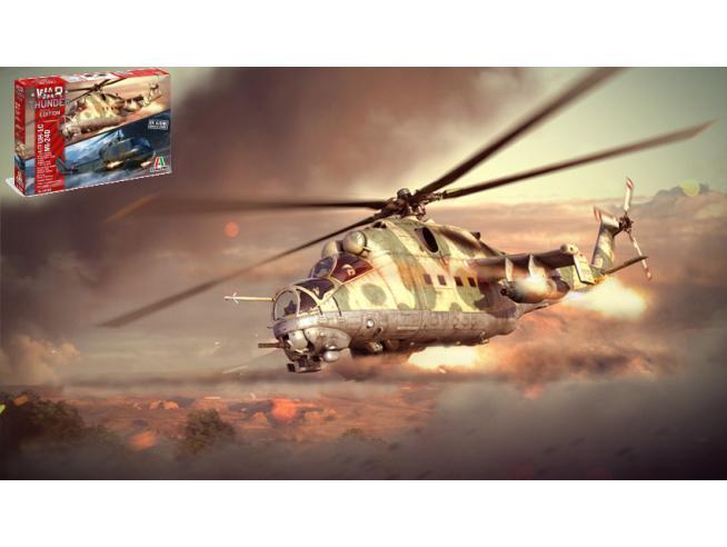 ITALERI IT35103 WAR THUNDER MIL MI-24 D -UH 1C (2 IN 1) KIT 1:72 Modellino