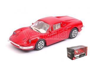 BBURAGO BU31105R FERRARI DINO 246 GT RED 1:43 Modellino