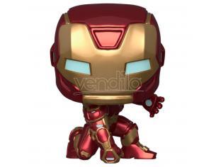 Marvel Avengers Funko Pop Game Vinile Figura Iron Man Stark Tuta Tecnica 9 cm