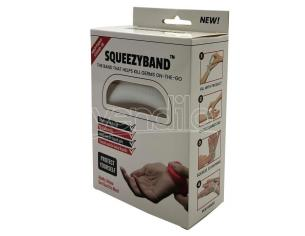 White Adjustable Gel Dispenser Adulto Braccialetto Squeezyband