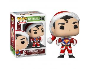 DC Comics Natale Funko POP Super Eroi Vinile Figura Superman Con Vestito Babbo Natale 9cm