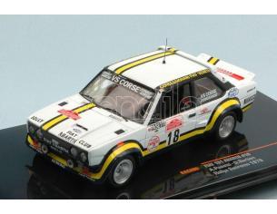 Ixo model RAC205 FIAT 131 ABARTH N.18 ACCIDENT SANREMO RALLY 1978 PASETTI-BARBAN 1:43 Modellino