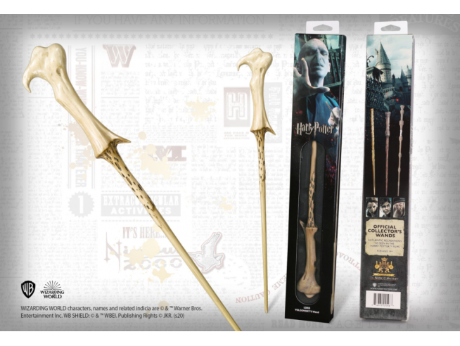 Harry Potter Bacchetta Magica Lord Voldemort in Blister Noble Collection