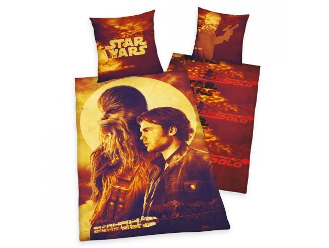 Star Wars Copripiumino Letto Set han & Chewie 135 x 200 cm, 80 x 80 cm
