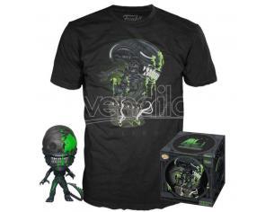 Alien Set Funko POP Vinile Figura 40th Xenomorph & T-Shirt