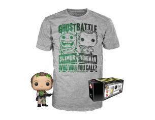 Ghostbustoers Set Funko Pop Vinile Figura Dr. Peter Venkman & T-shirt