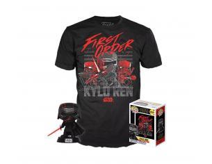Star Wars Episodio IX Set Funko POP Vinile Figura Kylo Ren Leader Supremo & T-Shirt