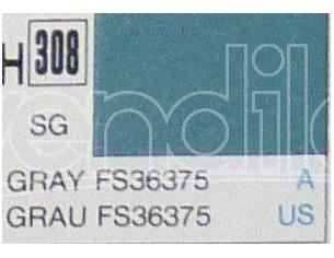 Gunze GU0308 GREY SEMI-GLOSS ml 10 Pz.6 Modellino