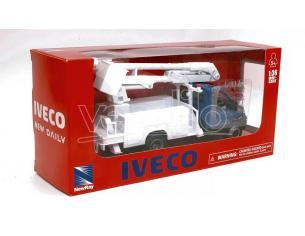 NEW RAY NY15873M IVECO DAILY CESTELLO BLU 1:36 Modellino