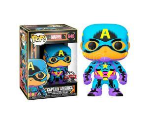 Marvel Black Light Funko POP Super Eroi Vinile Figura Capitan America 9 cm