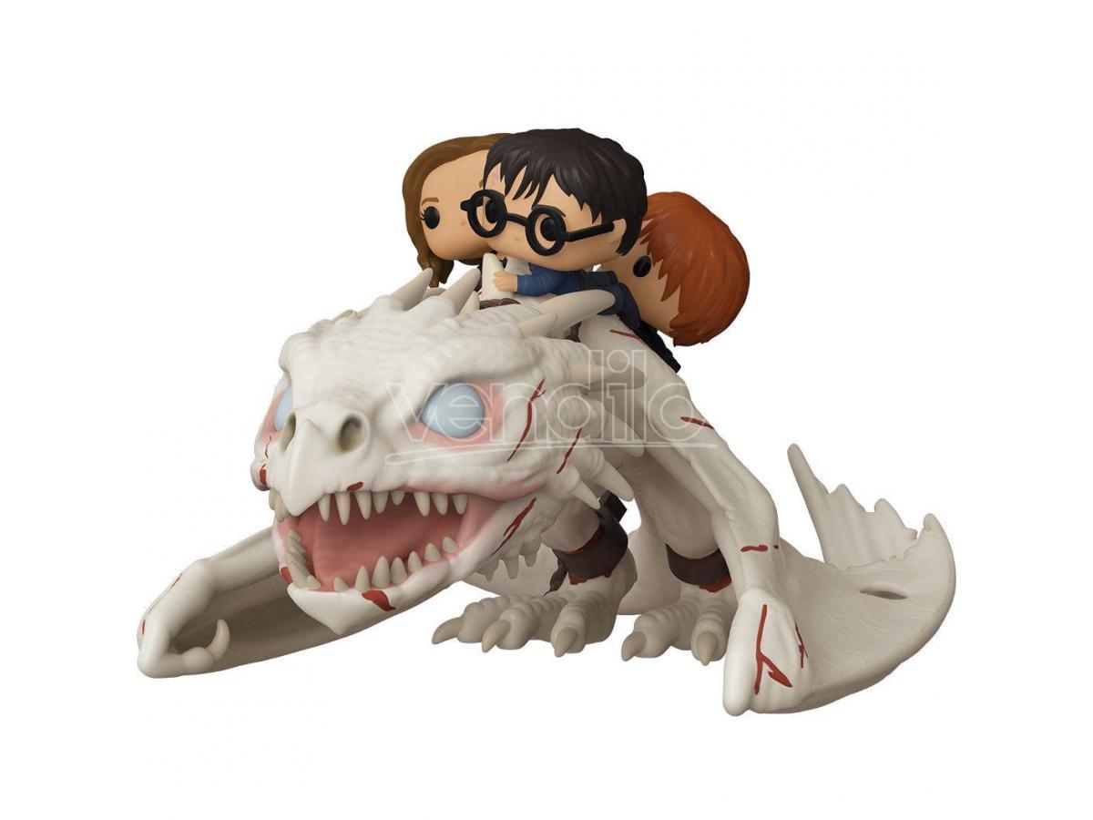 Harry Potter Funko Pop Film Vinile Figura Drago con Harry, Ron e Hermione 15 cm