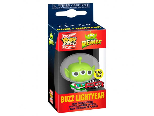 Pocket Pop Portachiavi Disney Pixar Alien Remix Buzz Glow Esclusiva Funko