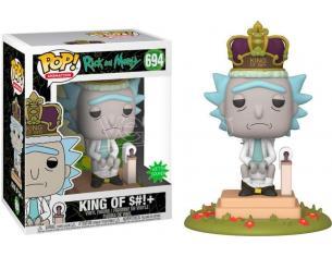 Rick & Morty Funko POP Animazione Vinile Figura Il Re Con Suono 9 cm