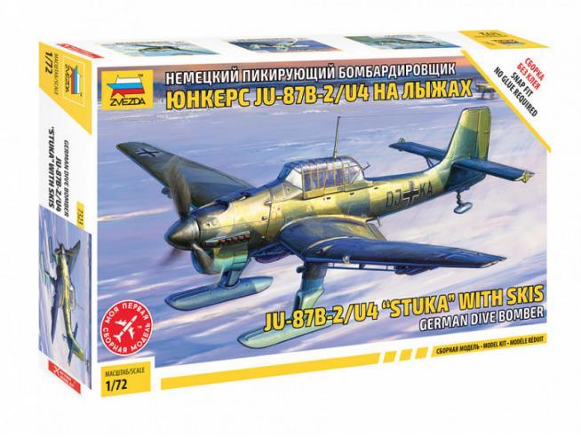 ZVEZDA Z7323 JU-87 B2/U4 STUKA W/SKI KIT 1:72 Modellino