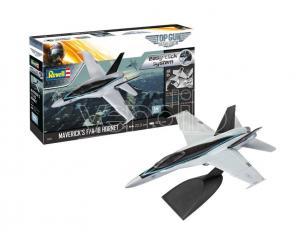 REVELL RV04965 AEREO MAVERIK'S F/A-18 HORNET TOP GUN (EASY-CLICK SYSTEM) KIT 1:72 Modellino
