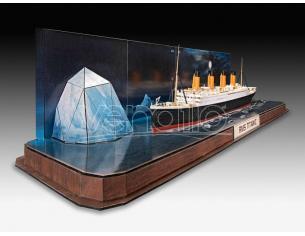 Revell Rv05599 Regalo Set Rms Titanic + 3d Puzzle (iceberg) Kit 1:600 Modellino