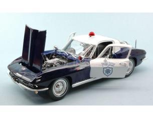 Maisto MI31381 CHEVROLET CORVETTE 1965 POLICE 1:18 Modellino