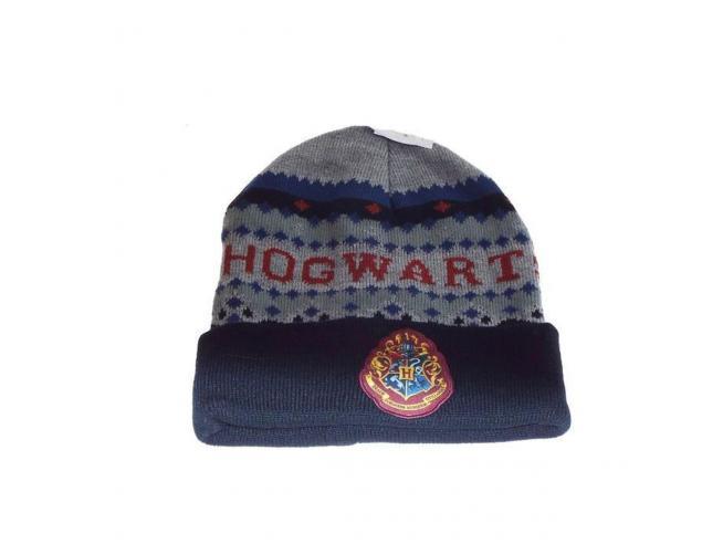 Harry Potter Berretta Invernale Grigia e Blu Hogwarts Taglia Unica Warner Bros.