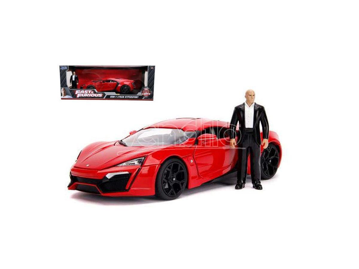 Jada Toys Jada31140 Lykan Hypersport Fast & Furious 7 W/lights & Dom Figura 1:18 Modellino