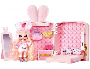 Na Na Na Zaino 3 in 1 Rosa 20 cm Playset Bambole E Accessori
