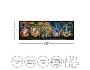 Harry Potter Crests 1000  Pezzi Slim Puzzle Puzzle Aquarius Ent
