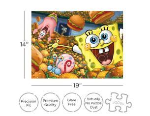 Spongebob Krabby Patties 500  Pezzi Puzzle Puzzle Aquarius Ent