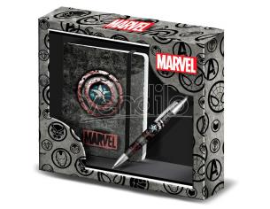 Marvel Captain America Set Diario con Penna Karactermania
