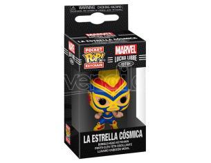 Pocket Pop Portachiavi Marvel Luchadores Captain Marvel La Estrella Cosmica Funko