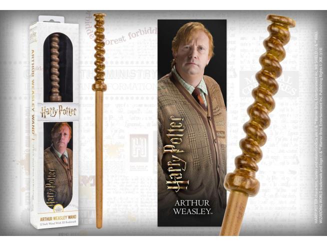Harry Potter Bacchetta Magica Arthut Weasley + Segnalibro 3D Noble Collection