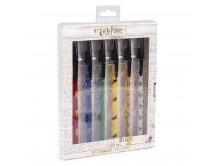 Harry Potter Set Penne a Sfera Pacco da 6 Penne Colorate Cerdà