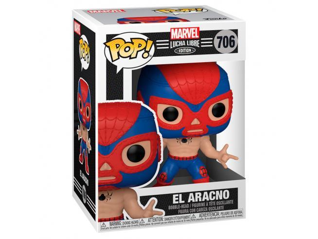 Marvel Luchadores Funko Pop Fumetti Vinile Figura L'uomo Ragno 9 cm