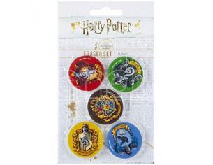 Harry Potter 5pc Gomma Per Cancelleria Set