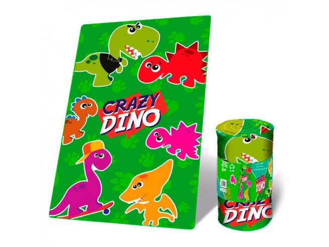 Crazy Dino Coperta In Pile Bambino Licensing
