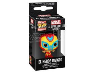 Pocket Pop Portachiavi Marvel Luchadores Iron Man El Heroe Invicto Funko
