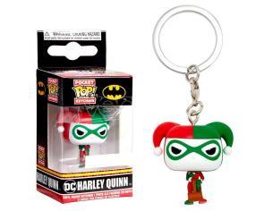 Pocket Pop Portachiavi Dc Comics Harley Quinn Holiday Esclusiva Funko