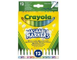 Crayola Set 12 Washable Fine Line Markers Crayola