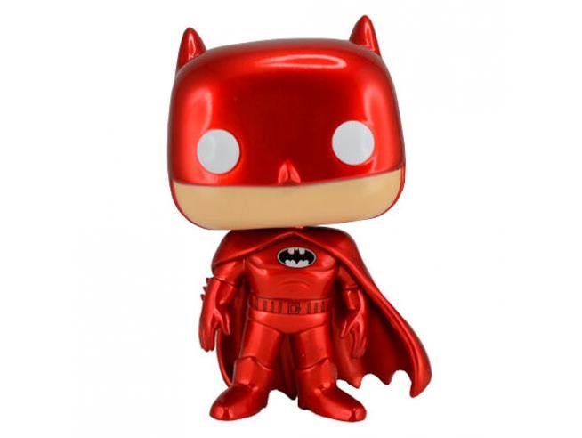 Batman Funko POP DC Comics Vinile Figura Batman Rosso Cromato Esclusiva 9 cm