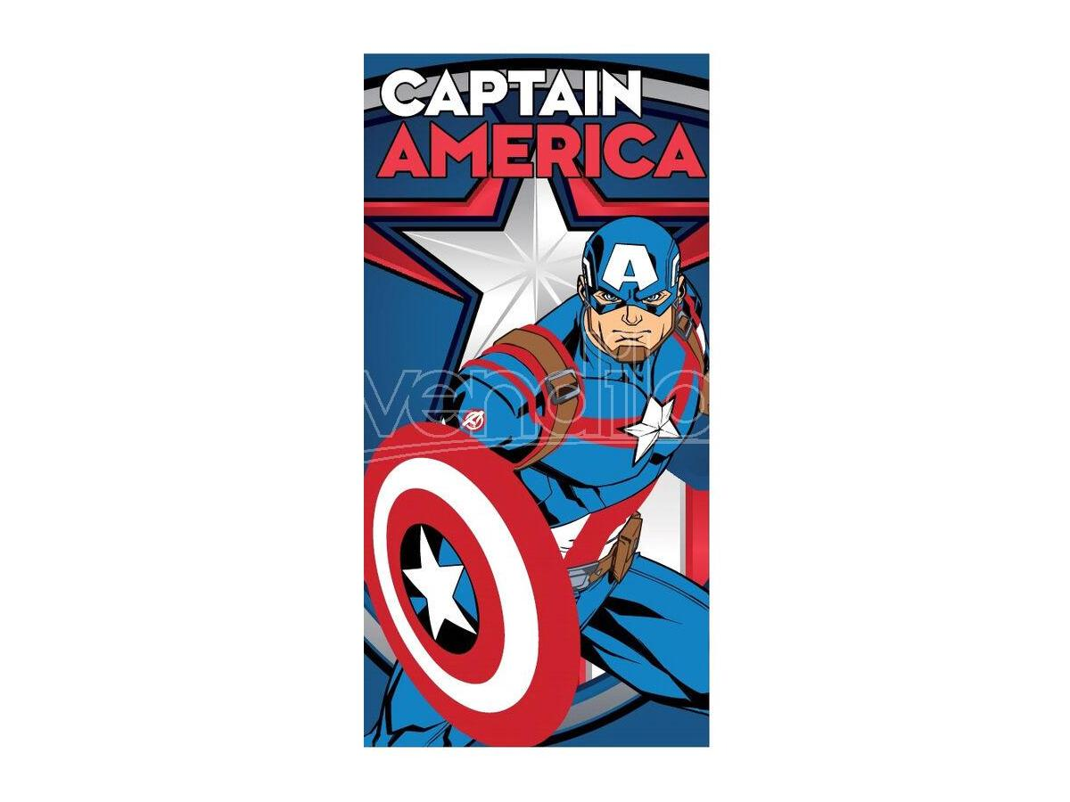 Marvel Captain America Telo Mare Asciugamano Microfibra Marvel