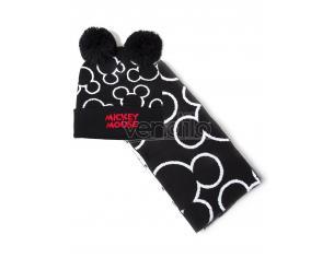 Mickey Mouse - Silhouette Berretto & Sciarpa Regalo Set Difuzed