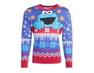Sesamestreet - Cookiemonster Knitted Unisex Jumper Difuzed