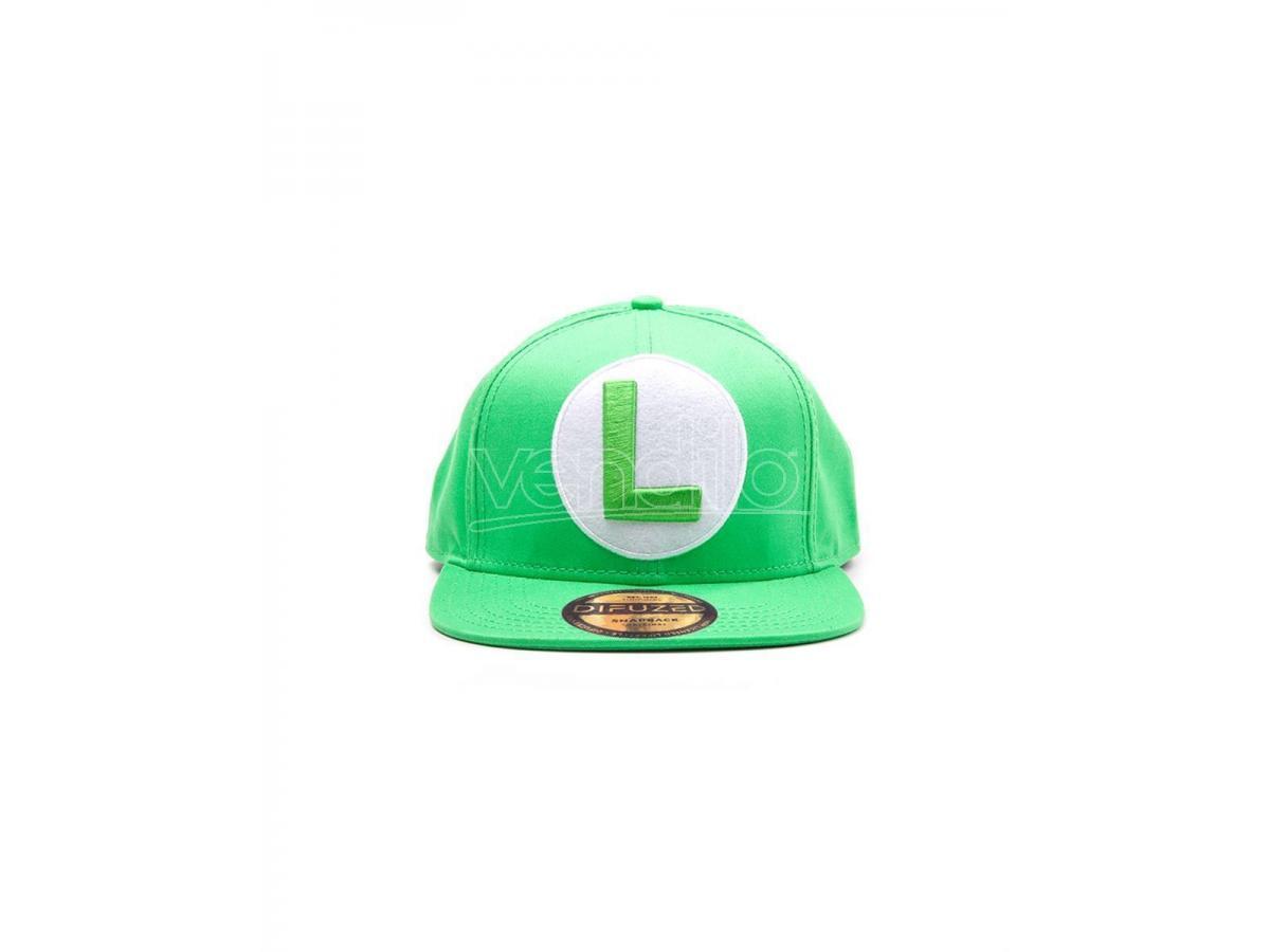Nintendo - Green Cappellino Snapback Con Luigi Logo Difuzed