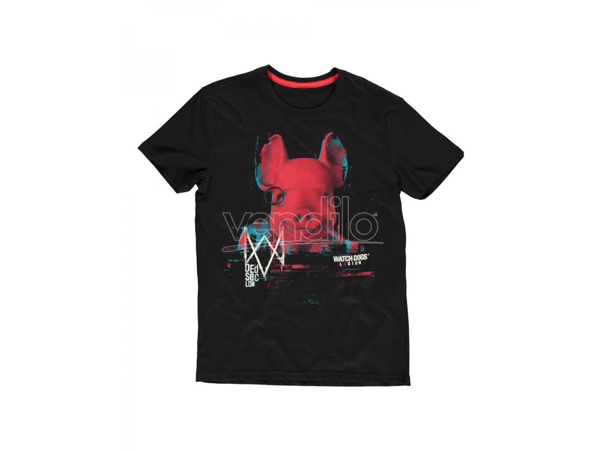 Watch Dogs: Legion - Pork Head T-shirt Uomo Difuzed