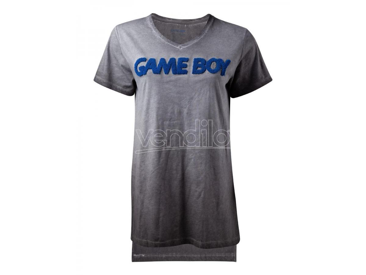 Nintendo - Oil Washed Gameboy Patch T-shirt Donna Difuzed