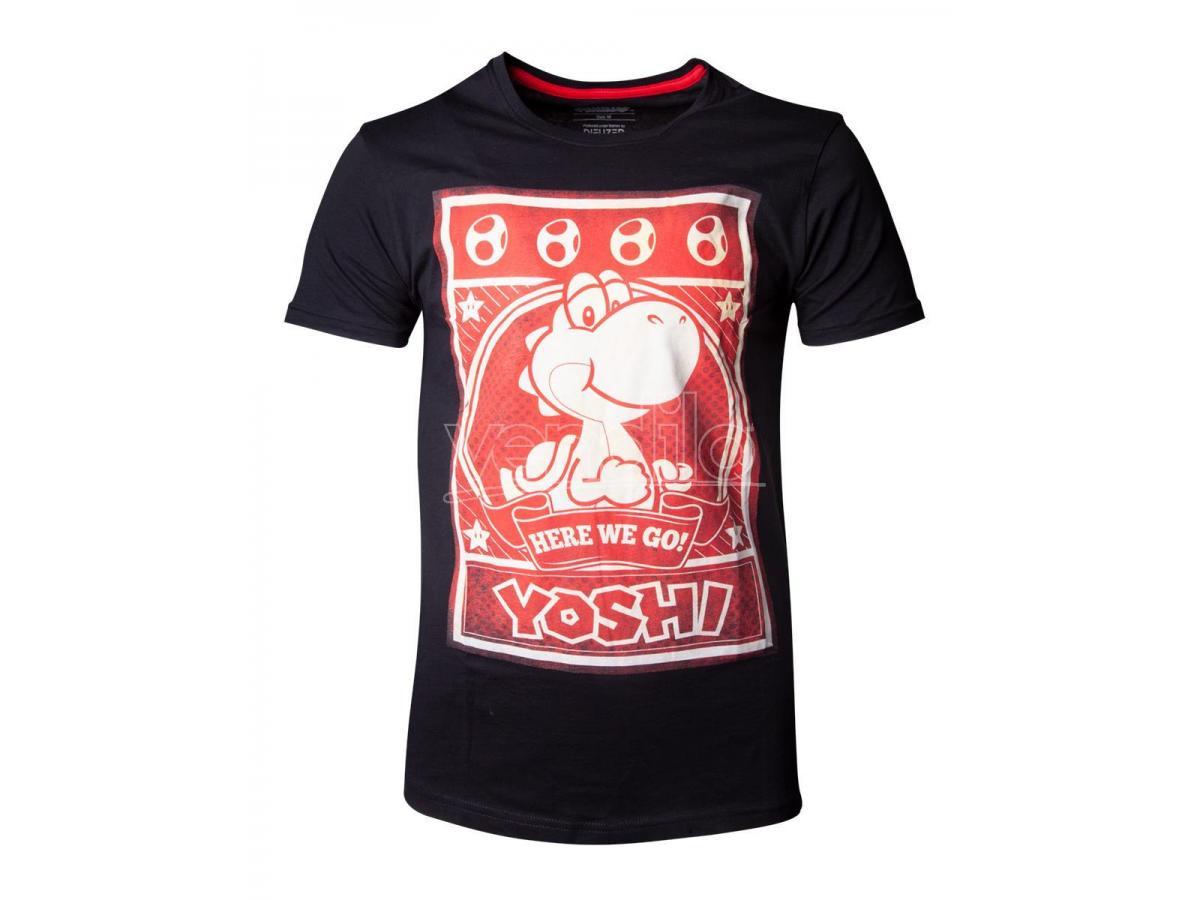 Nintendo - Super Mario Yoshi Poster T-shirt Uomo Difuzed