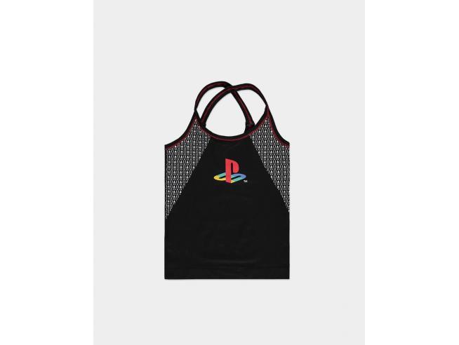 Sony Playstation Top Tecnico da Donna Senza Cuciture Difuzed