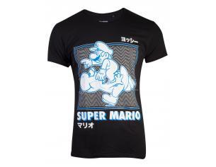 Nintendo - Super Mario Running Yoshi T-shirt Uomo Difuzed