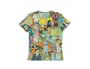 Rick & Morty - Printed Allover Mens T-shirt Difuzed