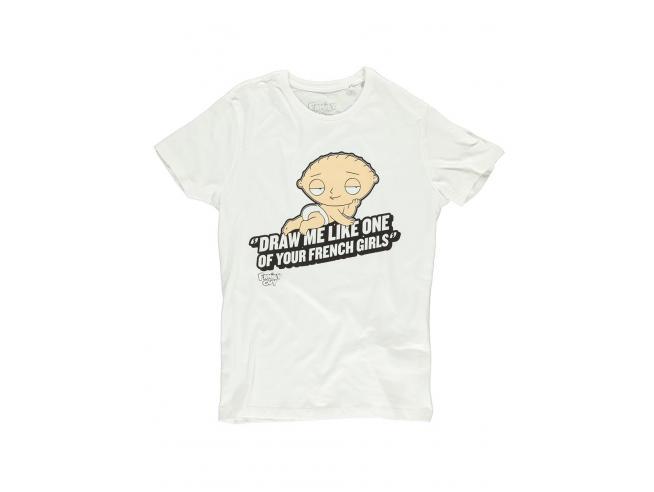 Family Guy - Stewie French Girls T-shirt Uomo Difuzed