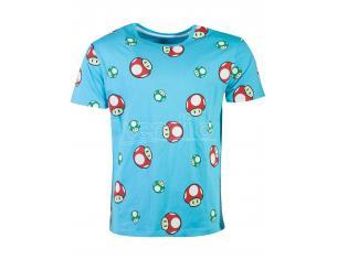 Nintendo - Super Mario Toad Aop T-shirt Uomo Difuzed