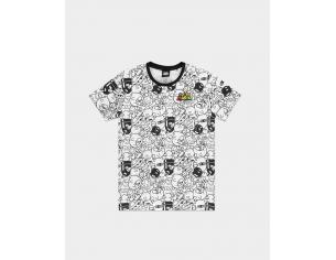 Nintendo - Super Mario Aop Villain T-shirt Uomo Difuzed
